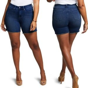 NYDJ | Blue Shape Slim Straight Shorts
